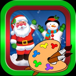 Santa claus and christmas photos coloring book