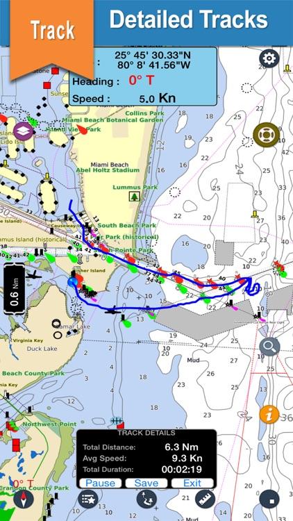 Elba Islands offline nautical charts for fishing