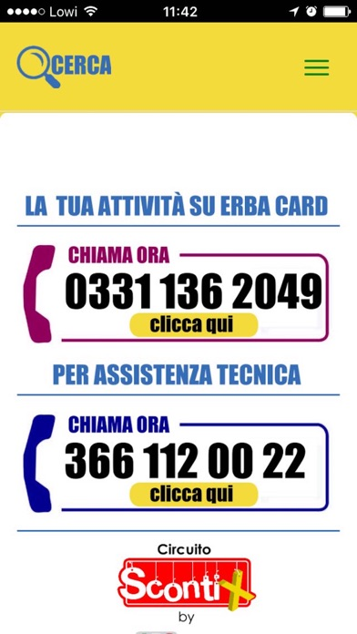 Erba card screenshot 2