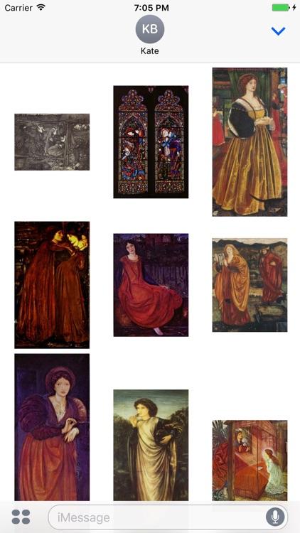 Edward Burne Jones Artworks Stickers