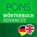 Wörterbuch Englisch - Deutsch ADVANCED von PONS