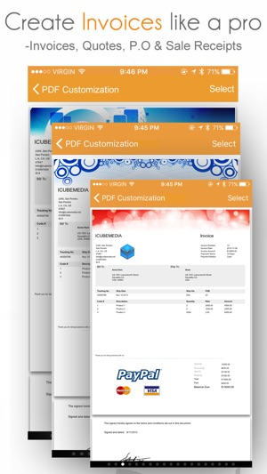 Invoice Manager On The App Store - Create an invoice on paypal hallmark store online