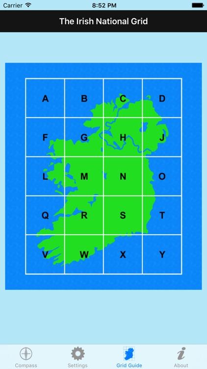 Irish Grid Ref Compass - gps map coordinates tool