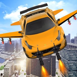 Flying Car War Simulator: Robot Driving Games