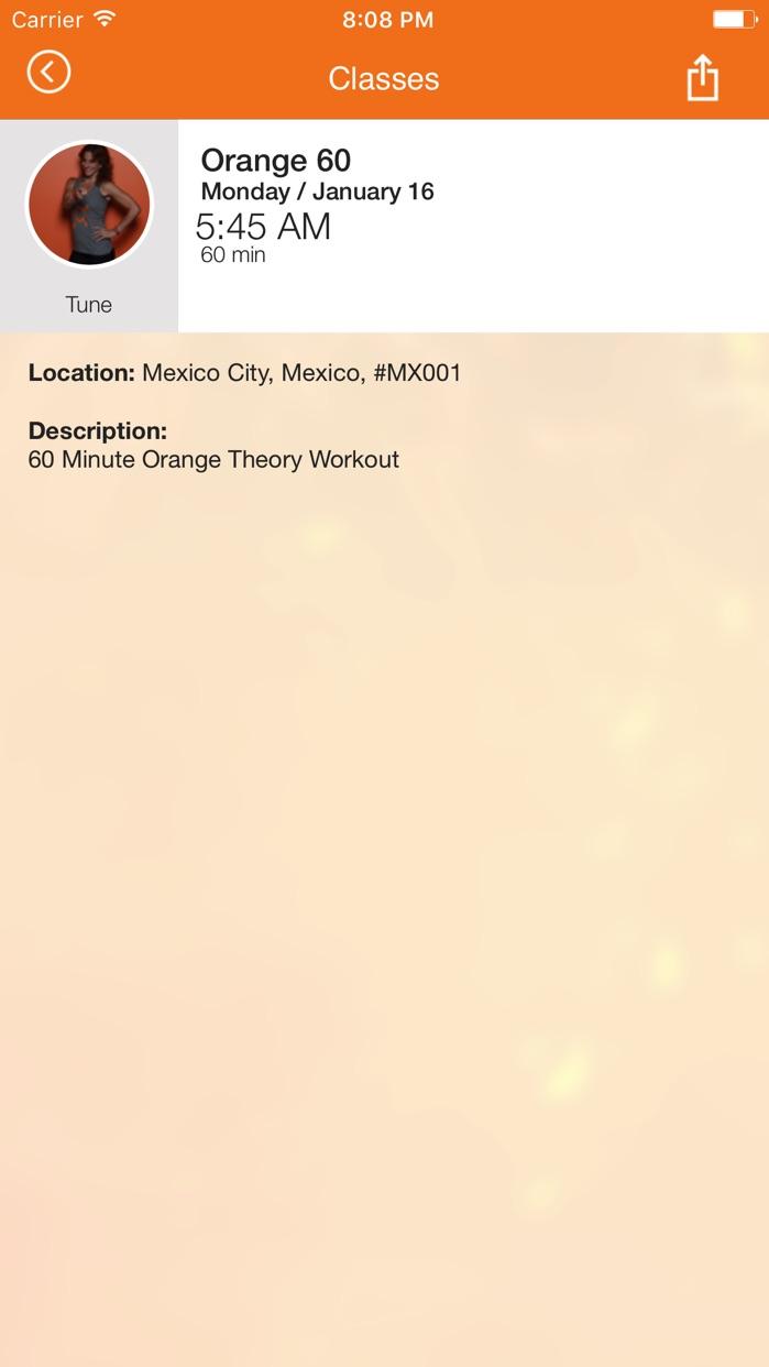Orangetheory Fitness Booking Screenshot