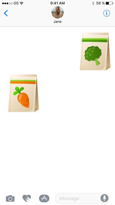 Einkaufstasche Sticker PackScreenshot von 3