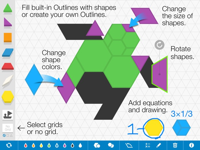 Pattern Shapes, by the Math Learning Center on the App Store
