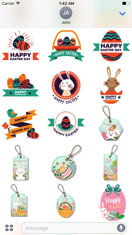 Happy Easter Sticker for iMessage screenshot-4