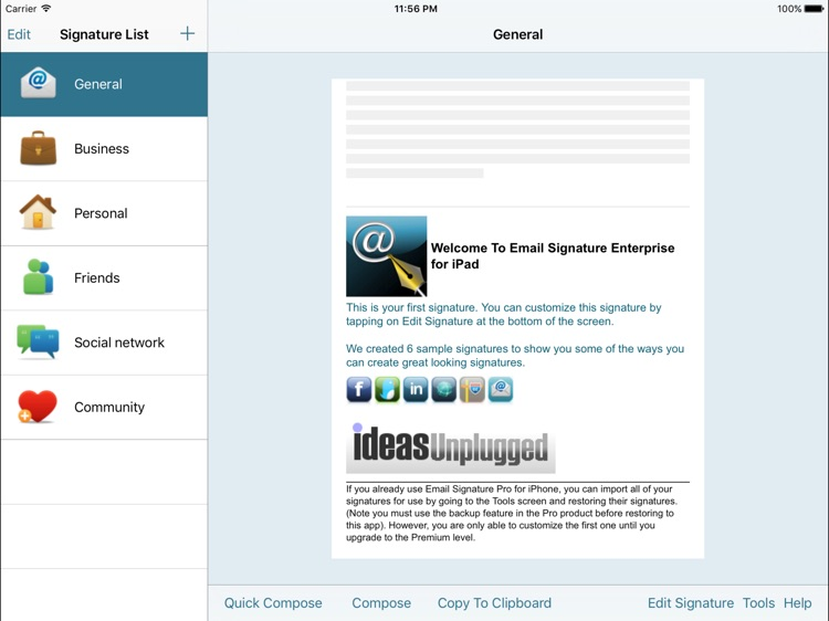 Email Signature EnterpriseiPad