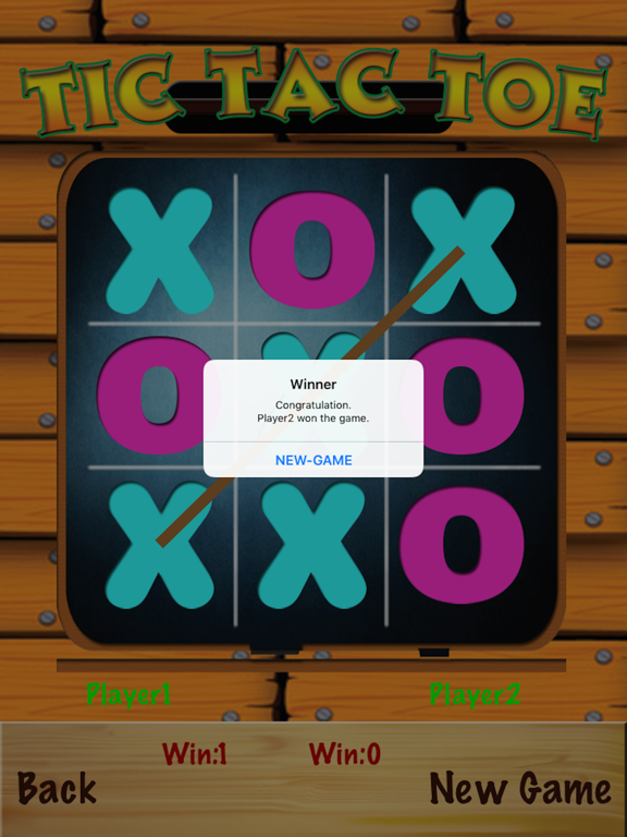 TicTacToe - One & Two Player screenshot 9