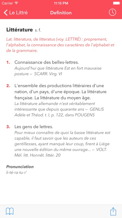 Le Littré French Dictionary screenshot-1