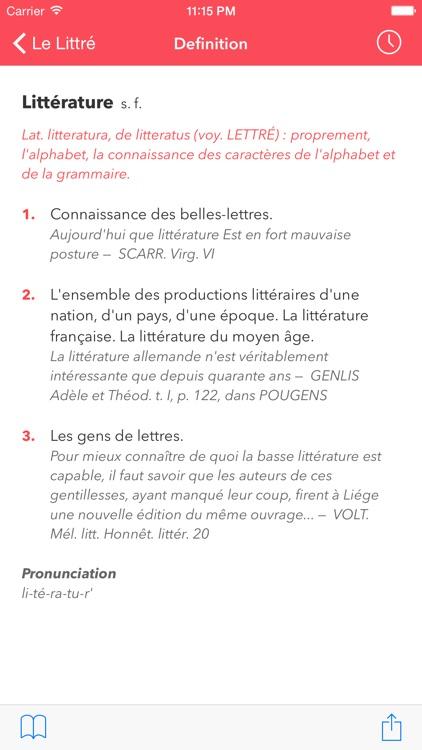 Le Littré French Dictionary