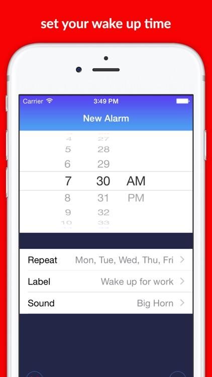 Loud Alarm Clock LOUDEST Night Stand for REM Sleep