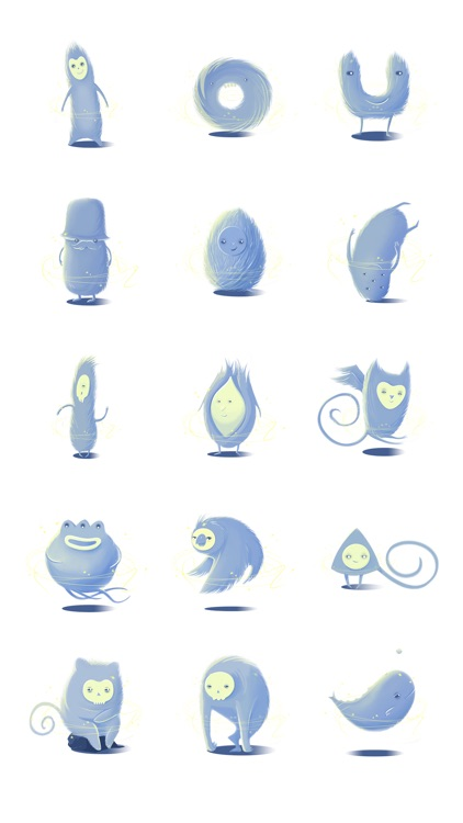 Monsters. Animated Art stickers by PopAppFactory