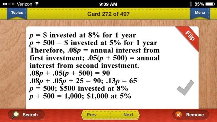 SAT Prep Math Flashcards Exambusters