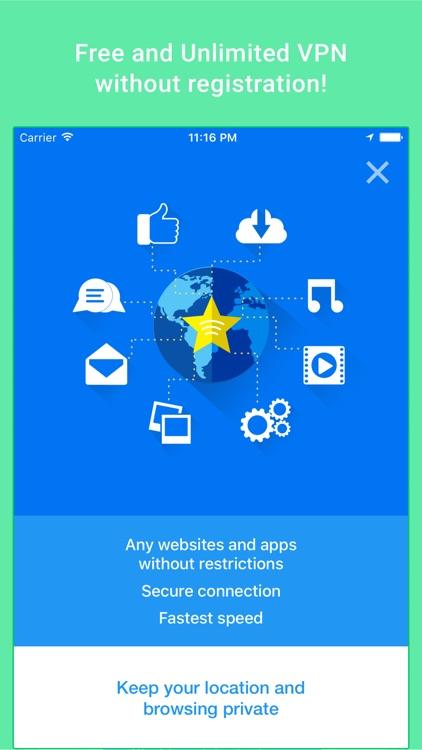Free VPN Proxy - Star VPN & Unlimited VPN Security app image
