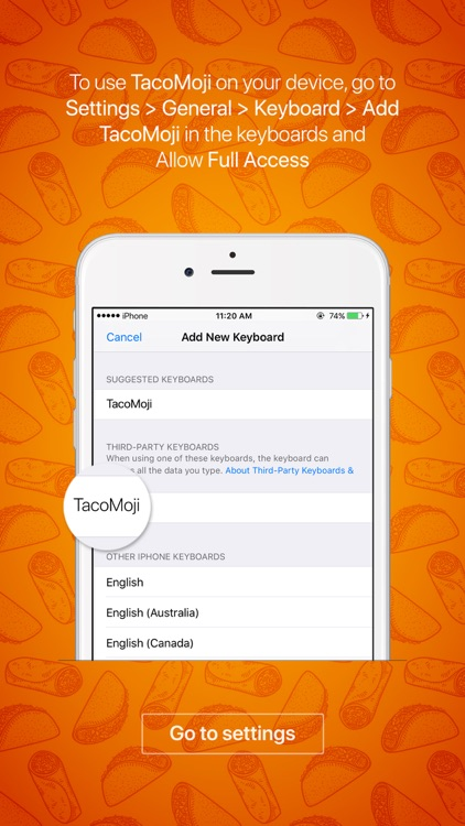 TacoMoji - taco emoji & stickers keyboard app screenshot-3