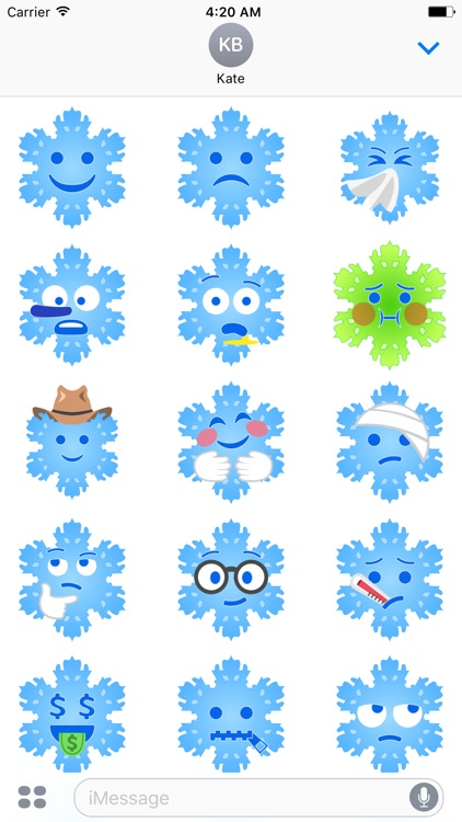 Christmas Snowflakes Stickers