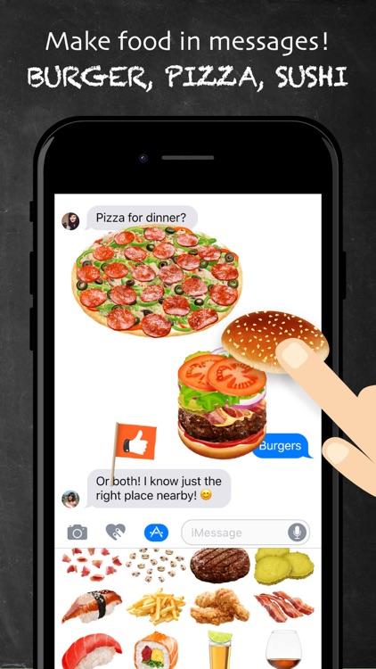 FOODNADO: Fun texting - Burger Pizza Sushi Drinks screenshot-0
