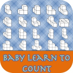Baby learn to count  by counting block 3D