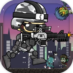 Super Soldier Run Adventure in Zombies Town