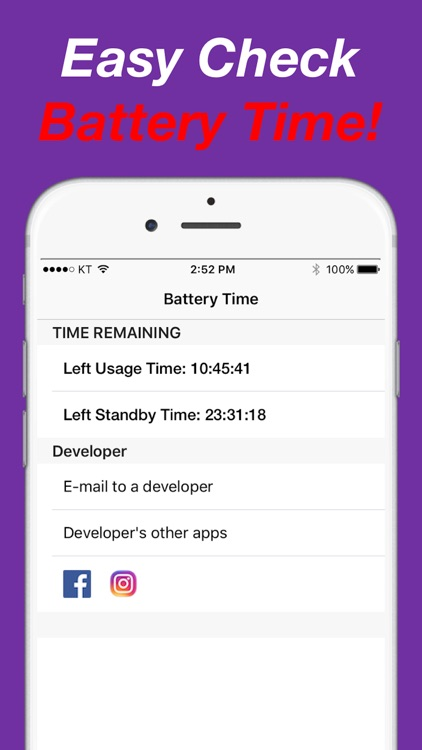Battery Time - Left Standby or Usage Time