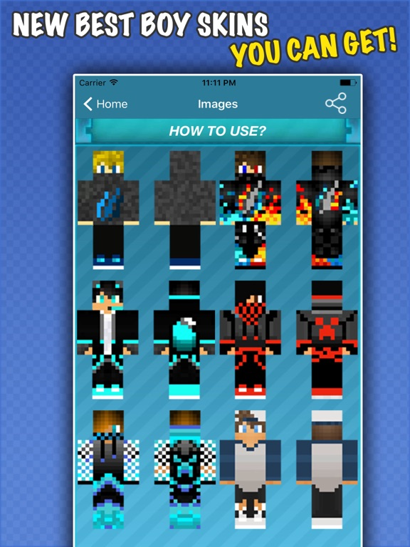 New COOL BOY SKINS FREE For Minecraft PE PC IOS App Download - Skins para minecraft pc 1 11