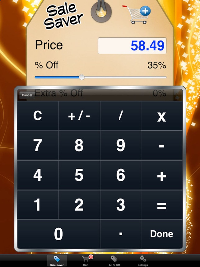 sale saver percent off shopping calculator をapp storeで