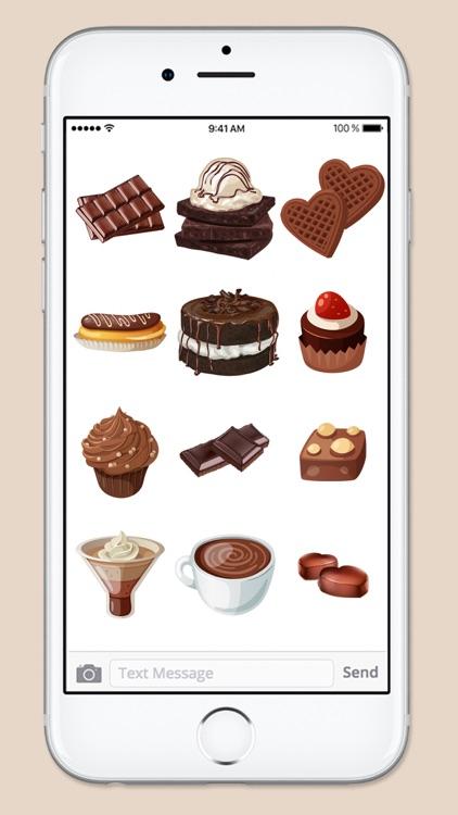 Chocoholic Chocolate Lover Sticker Pack