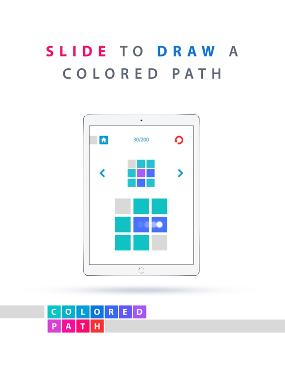 Screenshot #1 for Colored Path Fingers