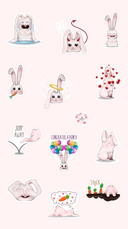 Funny Bunny - Handcrafted Stickers