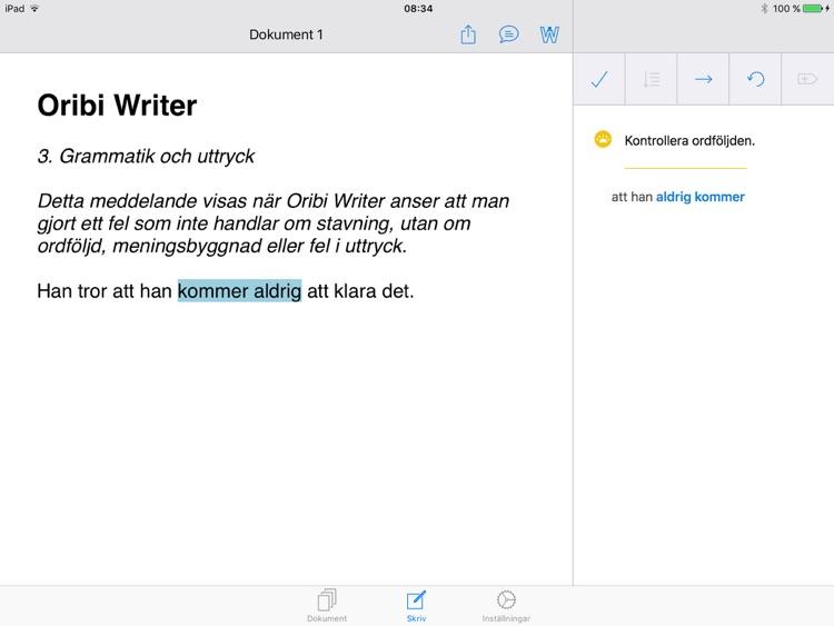 Oribi Writer