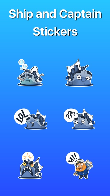 Ship and Captain in the Water Stickers