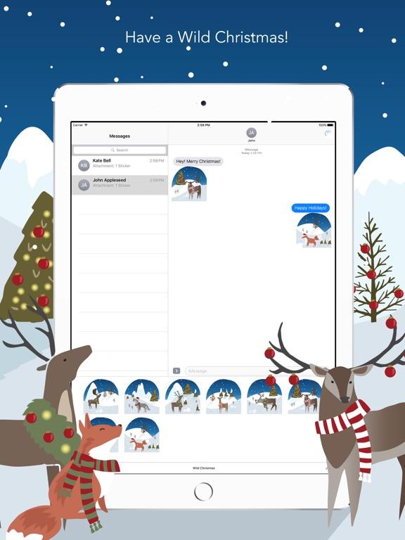 Wild Christmas - Animated Christmas Stickersのおすすめ画像1