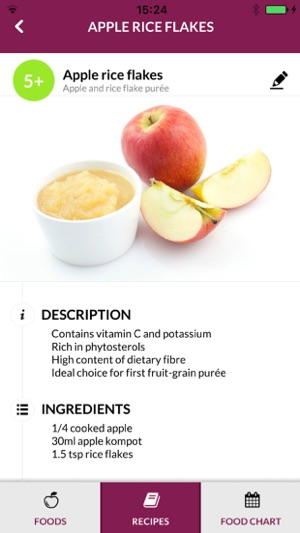 Baby food chart on the app store forumfinder Choice Image