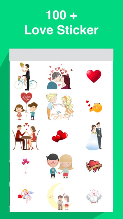Love Stickers For iMessanger - Kiss,Heart,Love