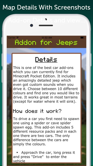AddOn for Jeeps for Minecraft PE | App Price Drops