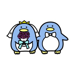 Mr & Mrs Penguin Stickers