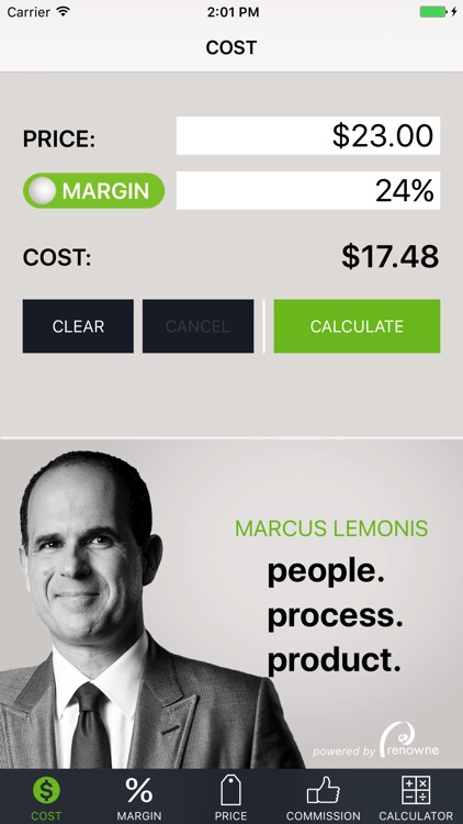 Cost Margin Calculator