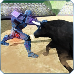 Futuristic Robot VS Angry Bull – Rodeo Stampede