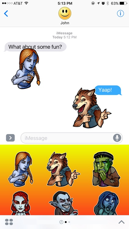 Scary Monsters and Legends Stickers