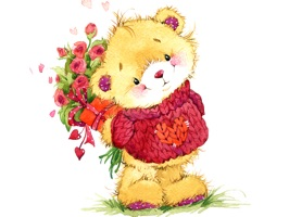 Teddy Bear Birthday and Love Sticker Pack