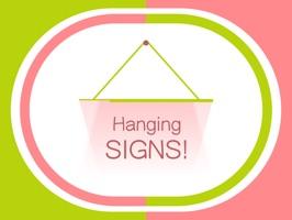 Hang a Sign! (Yellow Green/Salmon)