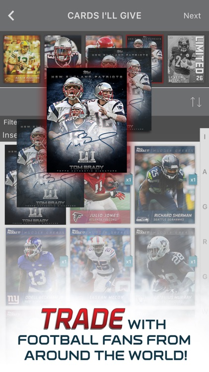 NFL HUDDLE: Football Card Trader screenshot-1