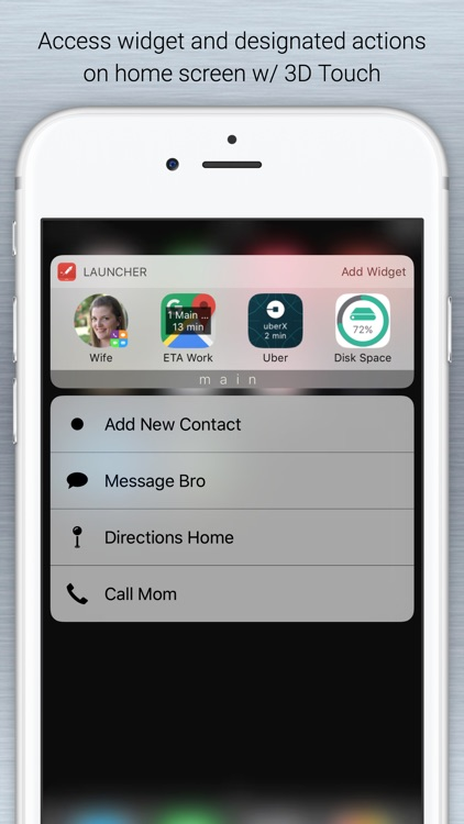 Launcher with Notification Center Widgets