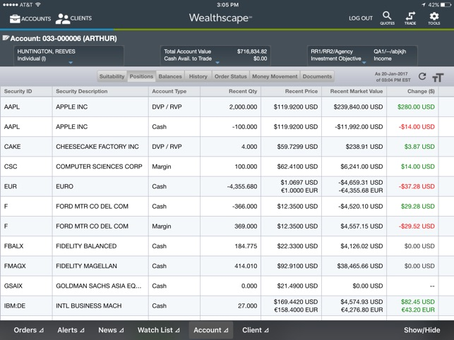 Image result for wealthscape investor account screen