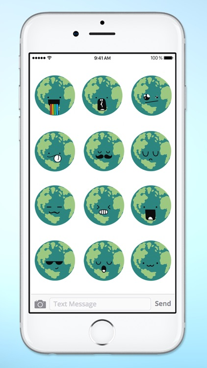 Planet Earth Emojis Emoticons Sticker Pack screenshot-4