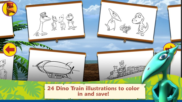 Dinosaur Train: Paint and Match