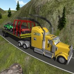 Heavy 4x4 Truck Trailer - Transport Cargo 2017 3D
