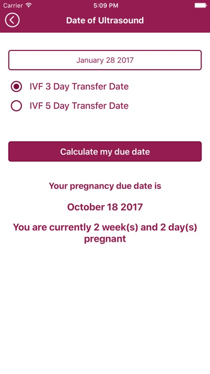 Mitera Center Due Date Calculator screenshot-3